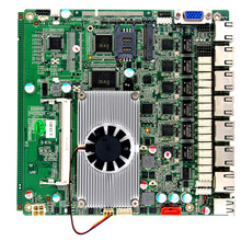 Industrial Router baytrail mainboard J1900 6 Gigabit Lan Firewall Motherboard with mini-pcie socket for 3G/wifi