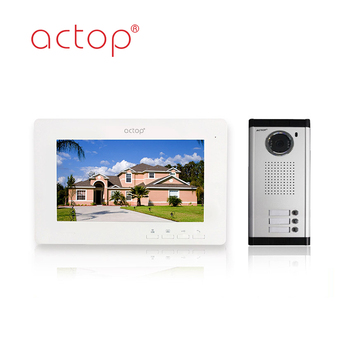 7Inch Color Screen Video Intercom Support Many Apartment