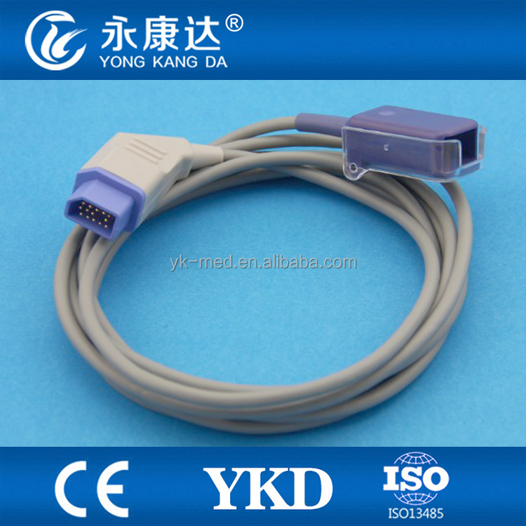 General medical supplies with Nihon Kohden 14pin to oximax DB9 spo2 sensor extention cable