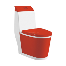New design one piece red & white color toilet sanitary ware bathroom toilet