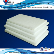 Vertical polyester wadding for folding mattress