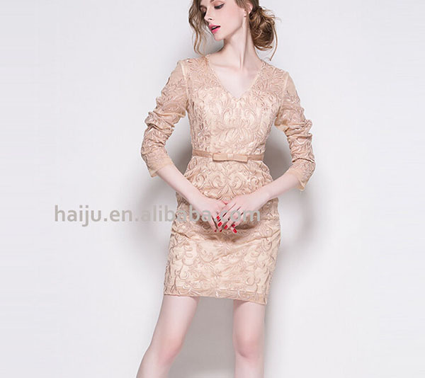 Hot sale korean dresses short front back long dress frock suits for women