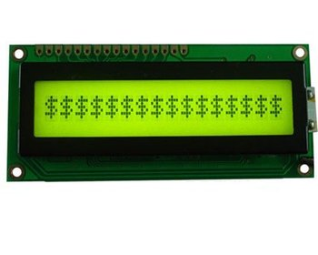 1601 characters LCM with yellow-green backlight