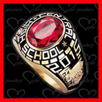 fashion jewelry gold plated in big AAA CZ stone class ring