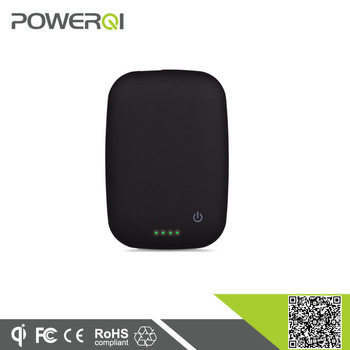 Powerqi T400 popular travel products mini size portable wireless charger power bank for mobile phone black color available