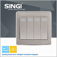 New design high quality four gang two way wall switch 16A safety wall switch for your beautiful home design well wall switch