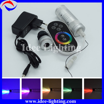 small size color changing mini LED fiber optic projector light source engine with remote control