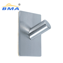 Popular stainless steel adhesive metal hat hooks decorative