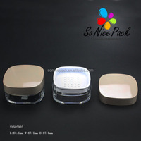 Square high quality loose powder compact case