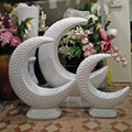 60cm larger fiber wedding mother of pearl floor stand for rental ,Contemporary