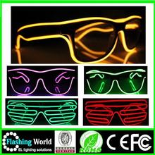 China factory OEM high quality Music Festival el wire led light up glasses