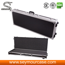 Hot selling new rolling aluminum rifle gun storage case