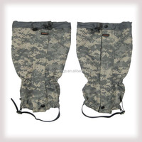 Military camouflage leg gaiters