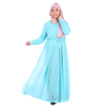 latest design abaya 2017 fashion women chiffon double layer abaya dress