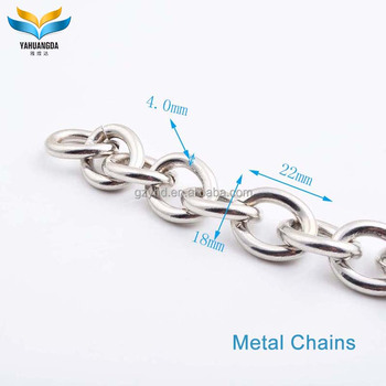 2017 new product custom metal handbag chains for bag handle