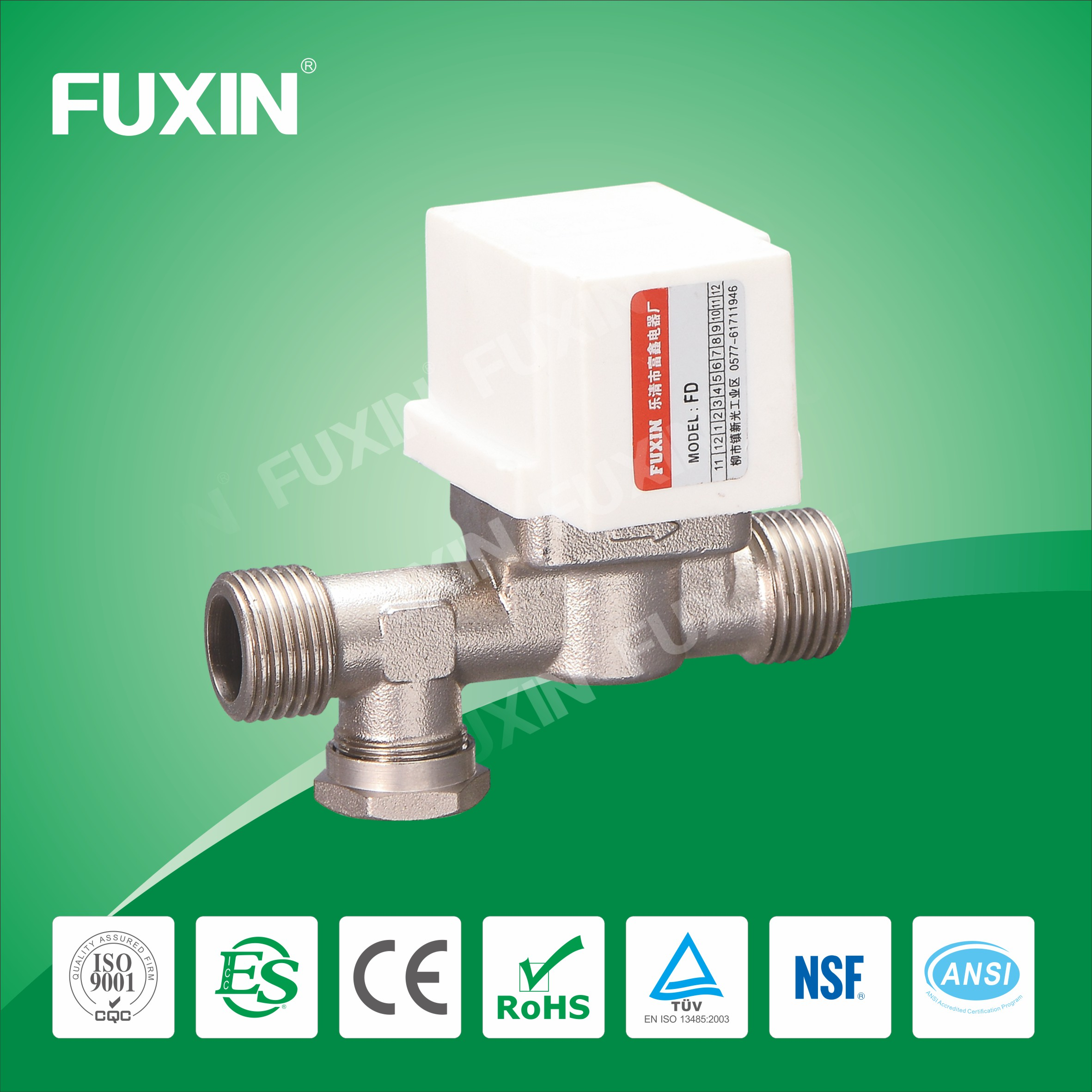 electric water valve flow control Silicon rubber seal motorized ball