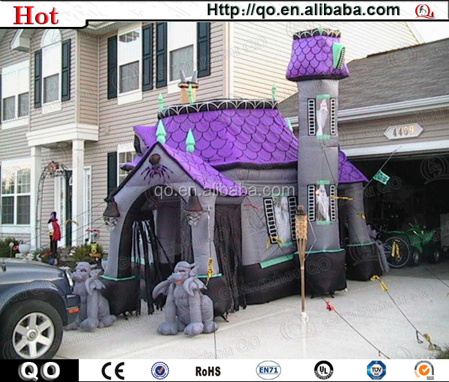 Newest design best popular halloween inflatable haunted house for sale