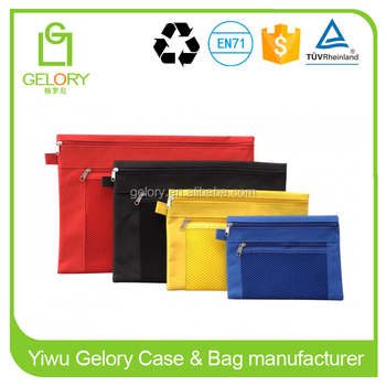 Ziplock Polyester Material waterproof A4 document bag