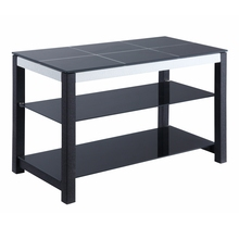 Hot sale modern Fashion simple design high class italian black glass white line nine grid tv stand
