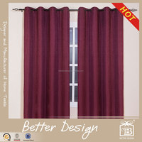 1PC BLACKOUT SOLID JACQUARD CURTAIN FABRIC WITH GROMMETS FOR LIVING ROOM WITH CUSTOMIZED AND FREE SAMPLE