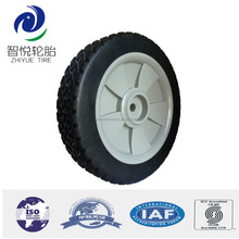 9 inch plastic wheel and tire for trash container, golf trolley