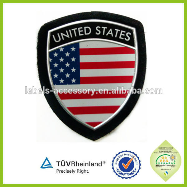Custom rank fabric military insignia and badges