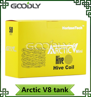 Authentic Horizon Mini Arctic V8 Tank Top Refill Mini Arctic V8 Sub Ohm Atomizer snake coil, hive coil, tiger coil
