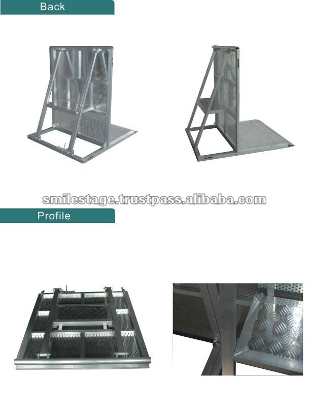 modular fencing Crowd control barrier