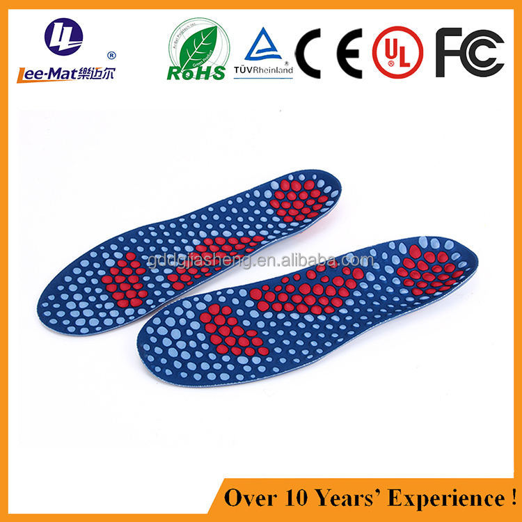 Durable acupuncture massage insole PU massage foot cushion pads