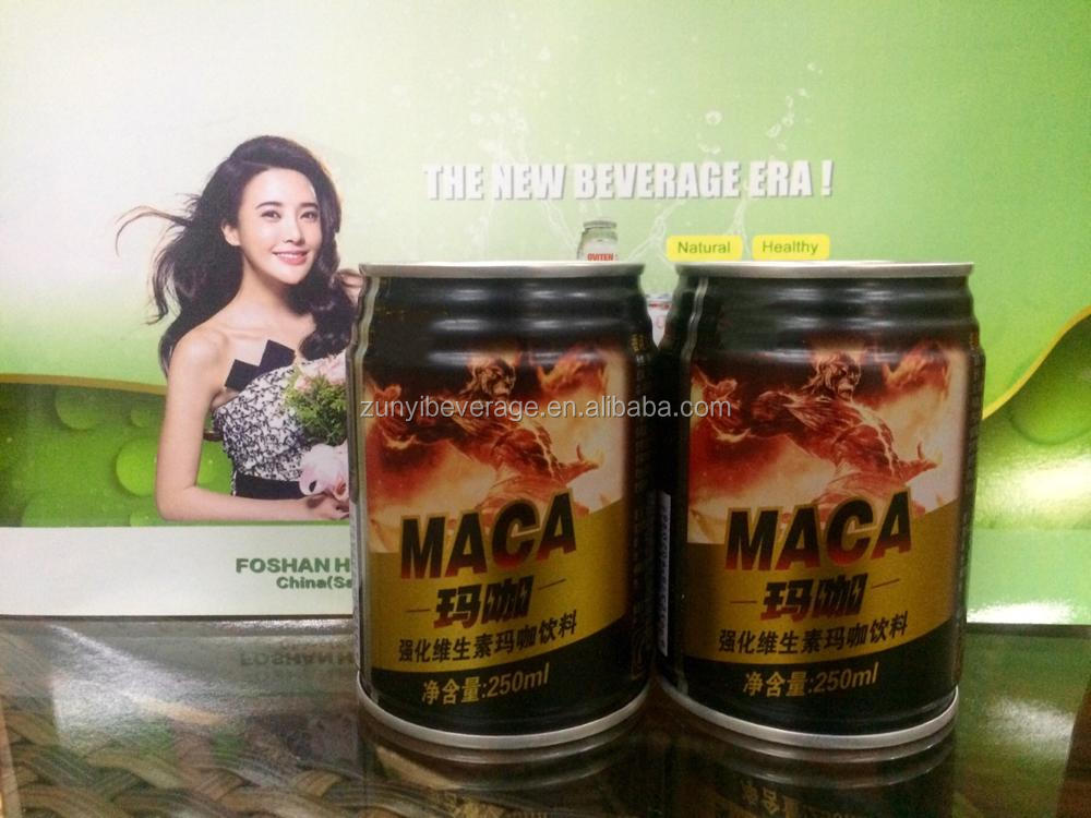 China Wholesale New Product Powerful MACA Energy Drink in 250ml tinplate can