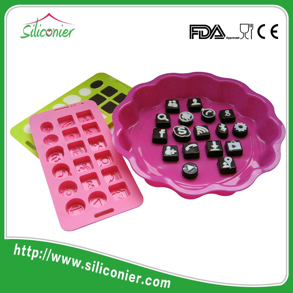 popular silicone christmas chocolate moulds