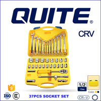 46pcs cr-v mechanic tool box spanner socket set