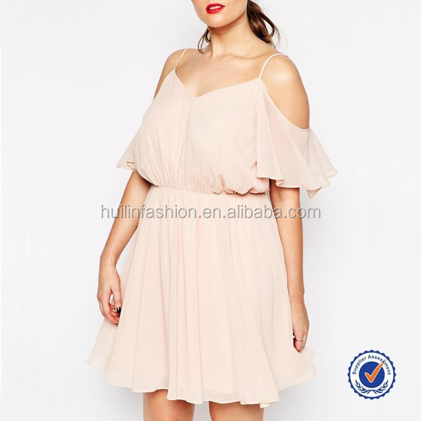 cheap plus size sexy summer dresses women chiffon fashion cold shoulder casual dress