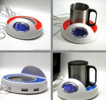 New design USB cup warmer with clock / Temperature display usb warmer / usb coffee cup warmer