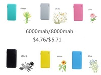 shenzhen manufacturer built in cable line 6000mah power bank, universal phone battery charger online shipping