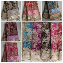 african original net stones dry lace fabric for dress/dry lace