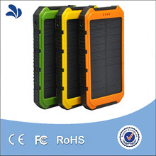 New products 2016 Wholesale portable waterproof power bank for iphones,rohs 10000mah mini waterproof solar power bank