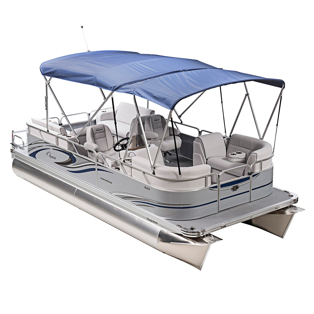 Factory Directly Double Tarpaulin Bimini Boat Top Cover 8 Bow Bimini Awning With Straps
