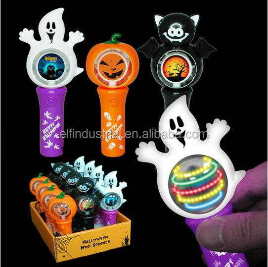 Amazon Best Novelty Gift for Kids Spinning Light Toy Halloween Mini LED Flashing Spinner