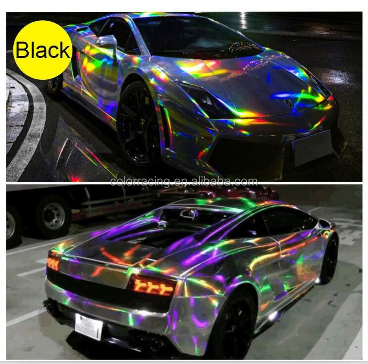 High Reflective Printable Rainbow Chrome Chameleon Laser Holograph