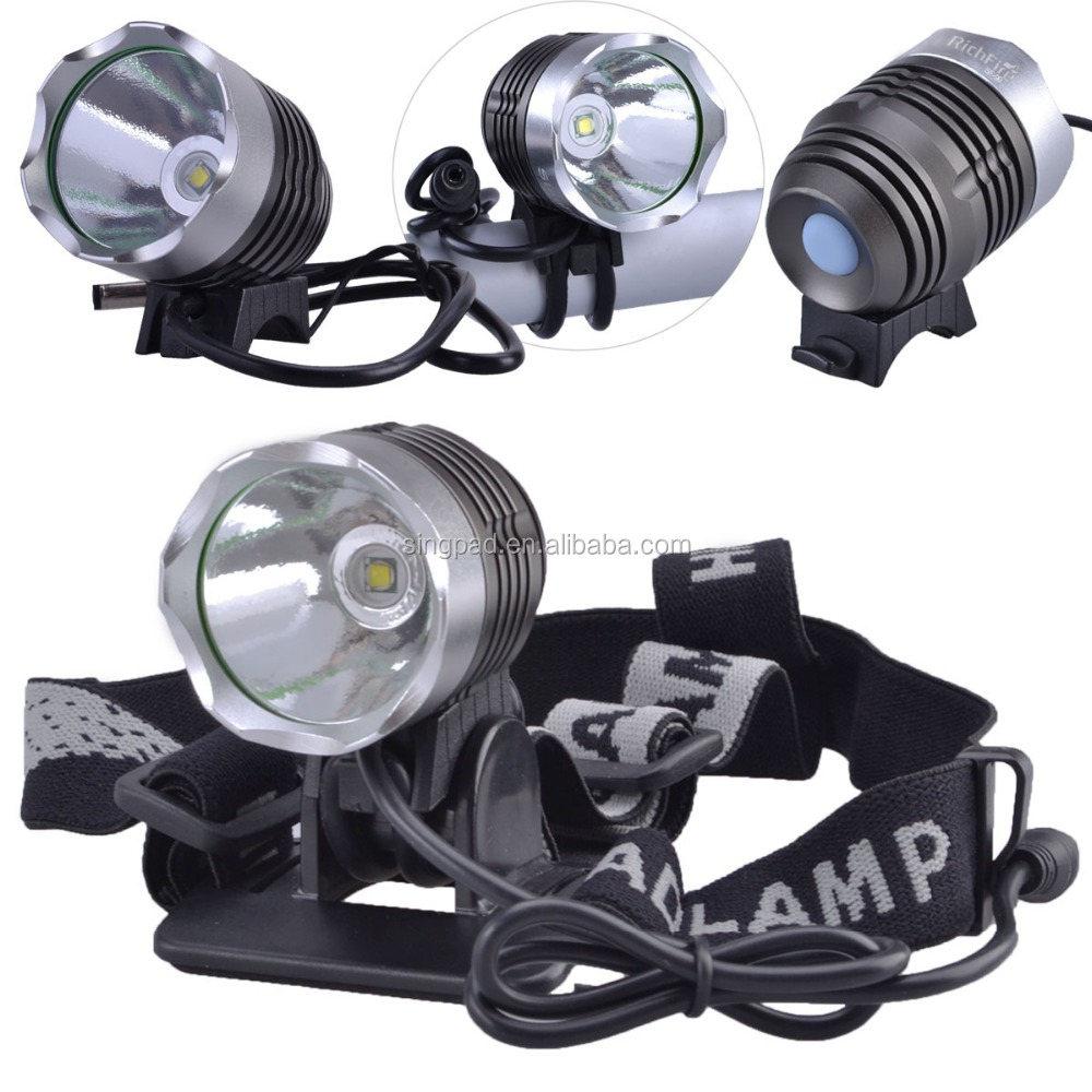 2016 hot sale Aluminum xml XM-L T6 super light bike light headlamp