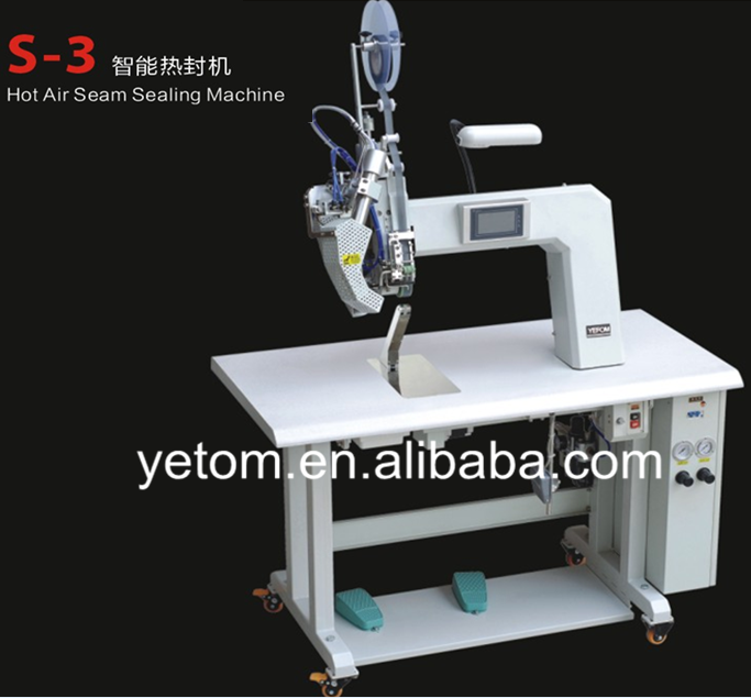 Hot air seam sealing machine for waterproof footwear and shoes