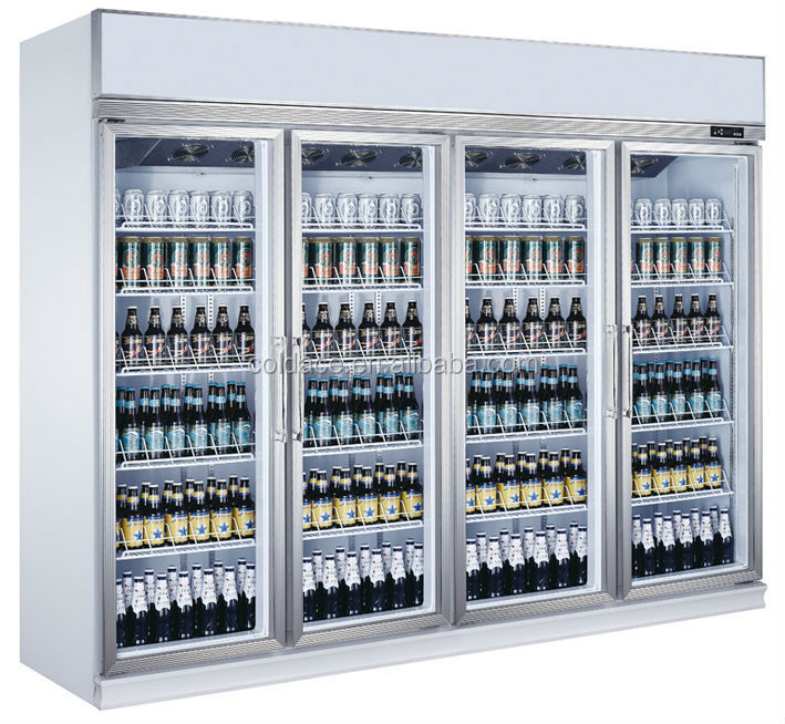 SM20L4FA 4 doors showcase chillers/upright stainless steel refrigerator