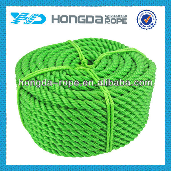 High Breaking Strength 4-50mm Light Weight Controlled Elongation TWISTED PE ROPE