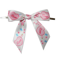 handmade fashionable printed ribbon bows,widely used in food,cosmetics,clothing,shoes/dotted ribbon bows/gift packaging bow