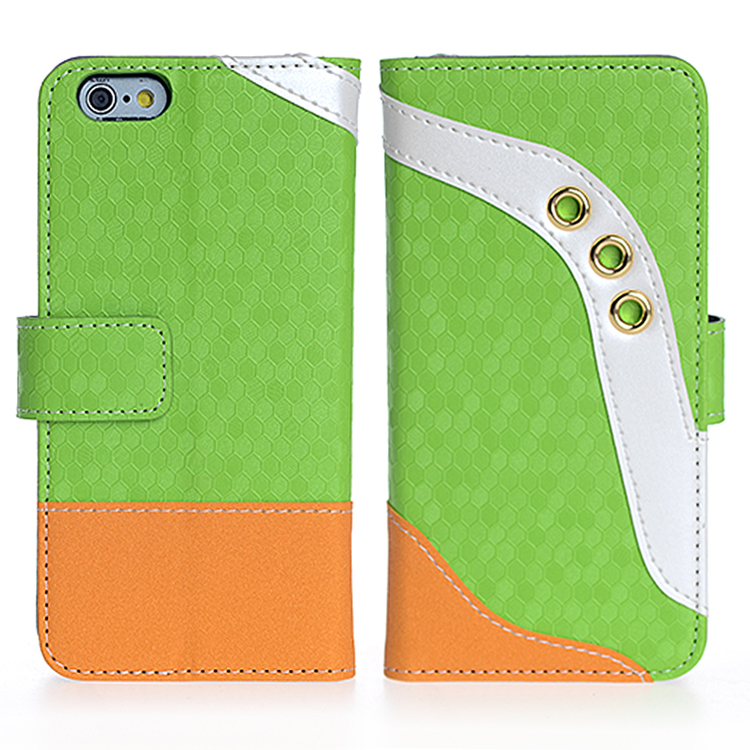 Mobile Phone Patchwork Leather Wallet Case with for iPhone 6/6s
