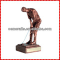 Nice design custom bronze resin unique Golf Trophy