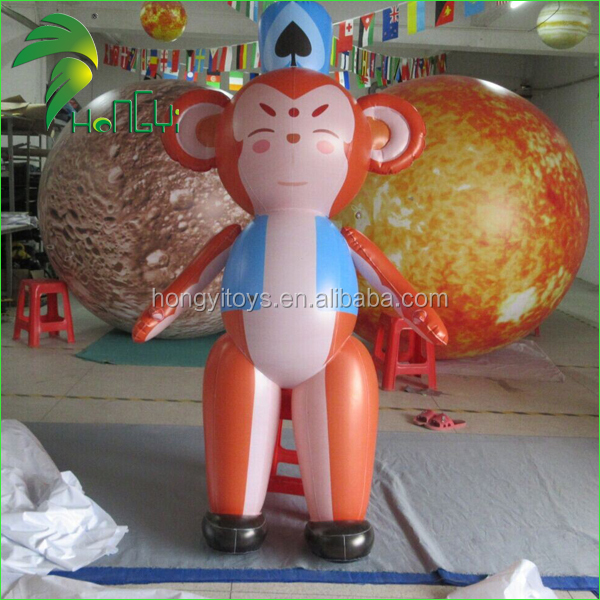 2M Gaint PVC Inflatable Advertising Monkey Mascot Balloon / Inflatable Standing Balloon