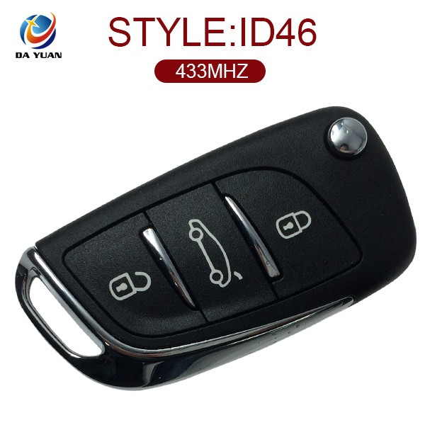 AK016017 For Citroen DS3 3Button car key fob frequencies 433MHZ ID46 key chip