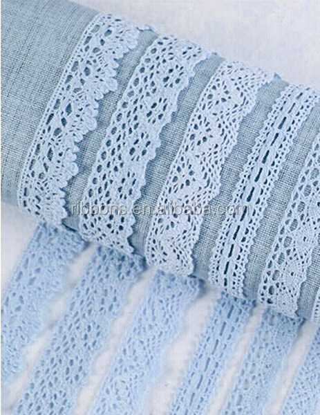 Luxury White Decorative Lace Net Embroidery Cotton Lace Trim For Home Textiles